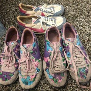 3 pairs vintage 1984 Nikes.